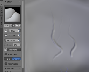 Sculpting in Blender like this would be impossible without pressure sensitivity!