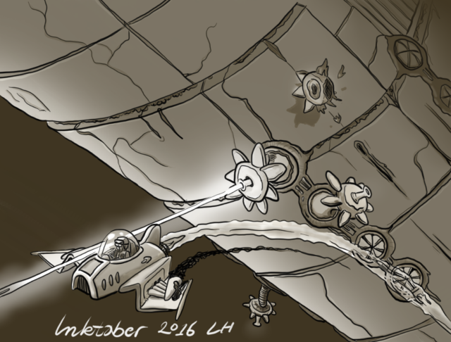 Day 19: Flight - His flight-capabilities sure saved him this time.