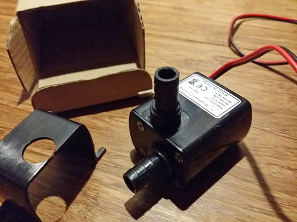 the 12V Mini Micro Ultra Quiet Brushless Submersible Water Pump